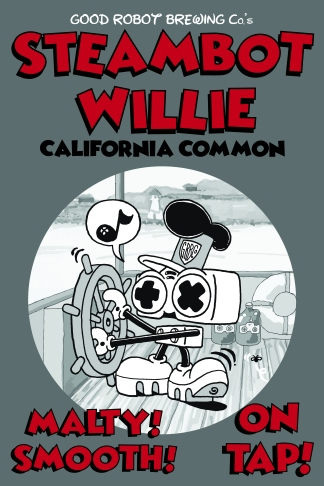 SteamBot Willie - Commissioned by Good Robot Brewing Co.